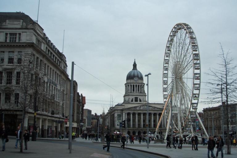 Nottingham city centre (photo: Crashlanded)