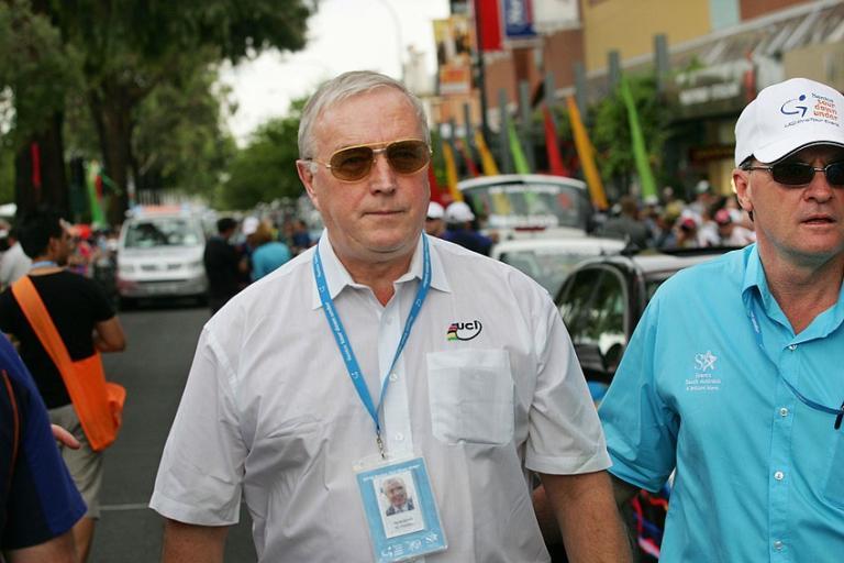 Pat McQuaid at the Tour Down Under (photo credit credit Santos Tour Down Under : John Veage).jpg