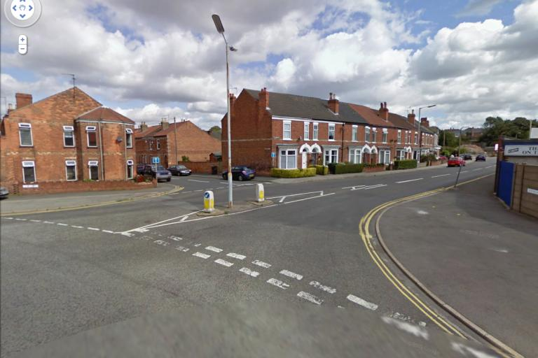 Junction of Northolme and North St, Gainsborough - Google Streetview