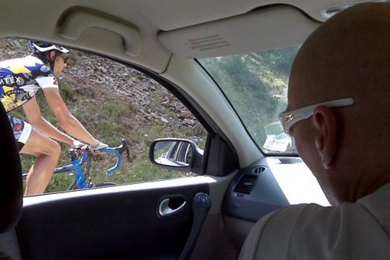 Magnus Backstedt in the team car