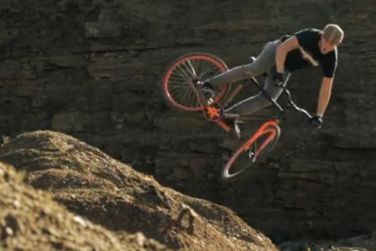Chris Akrigg riding unfixed