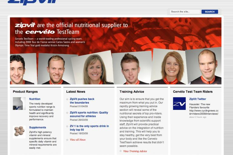 ZipVitsport homepage