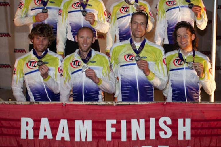 RAAM 2010 - Team Type 1 finish (pic: www.raceacrossamerica.org)