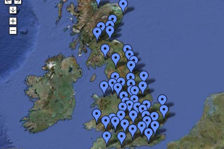 Tour de Force map