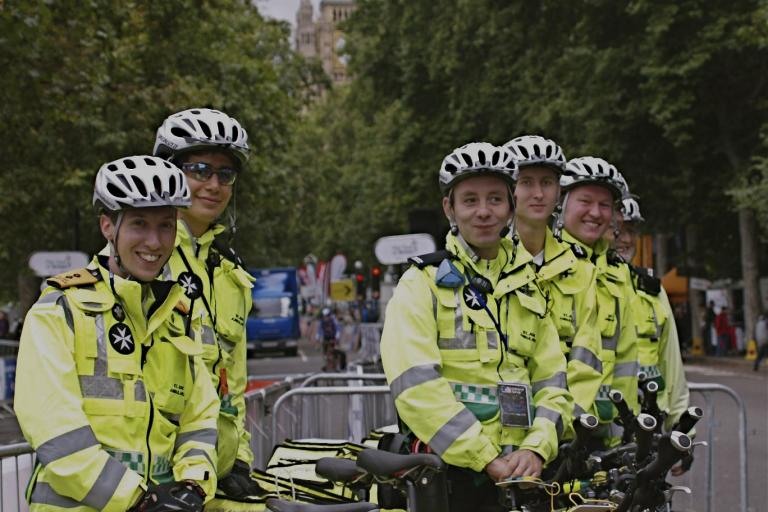 St John Ambulance cycling first aiders 2.jpg