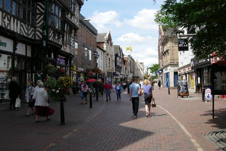 Stafford town centre (Creative Commons Val Vannet)