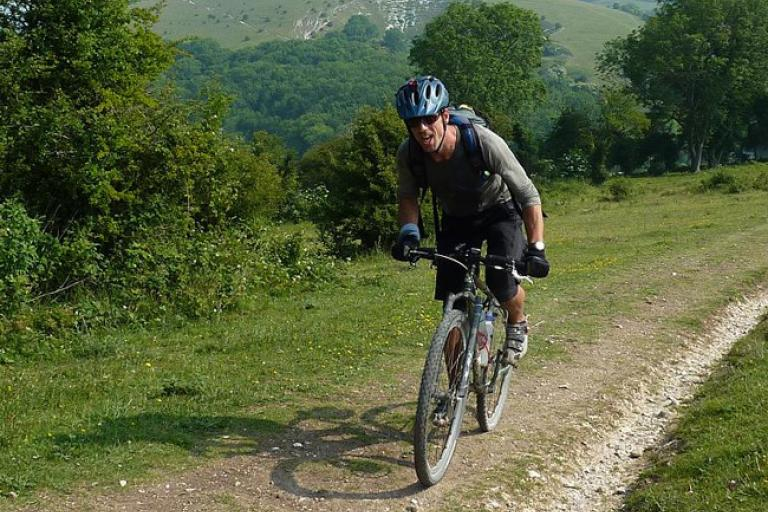 Ben Sherratt on his South Downs double (photo Rory Hitchens)