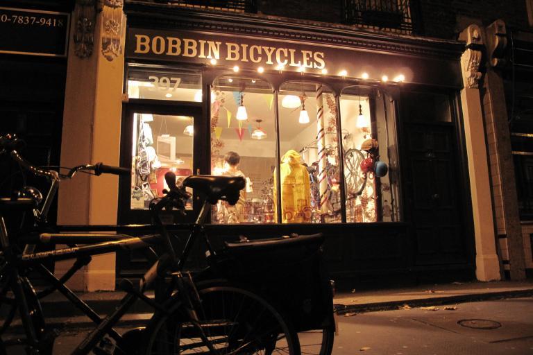 Bobbins shop front, Angel, London