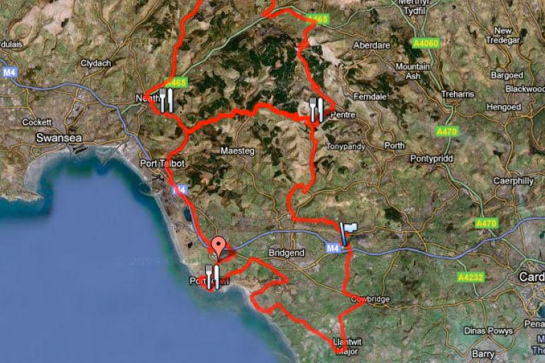 Dragon Ride 2011 - new route (Google Maps)
