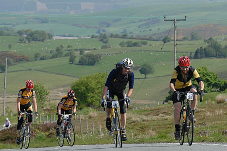 Gore Bikewear Road Sportive Series hill 4 riders