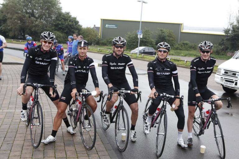 Rapha riders at Prostate Cancer Charity Tour Ride