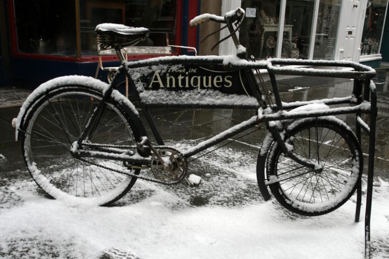 Snowy bike in Bath [1]