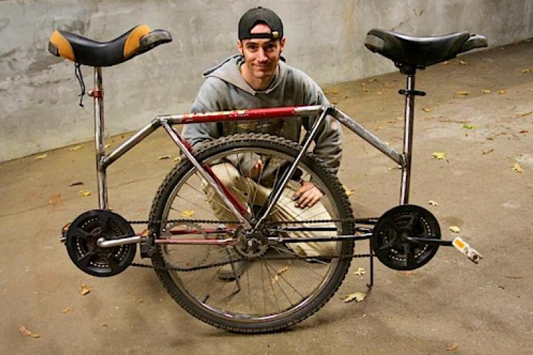Tandem Unicycle (from Corbin's Treehouse)