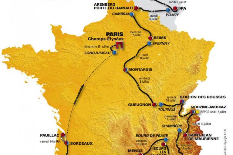 Tour de France 2010 route hi-res