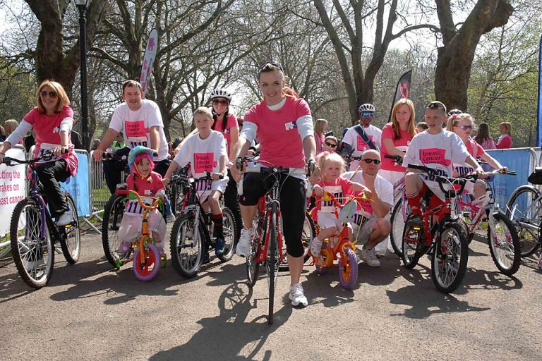 Victoria Pendleton at Pedal it Pink
