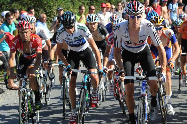 Bradley Wiggins works for Chris Froome on Vuelta Stage 19 (copyright: Tour of Spain/Graham Watson).jpg