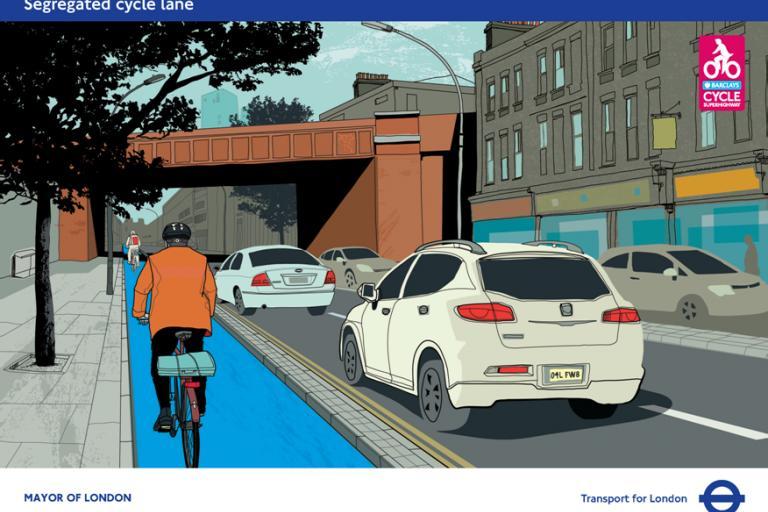 CS2 Consultation Stratford Cycle Lane (source TfL).png