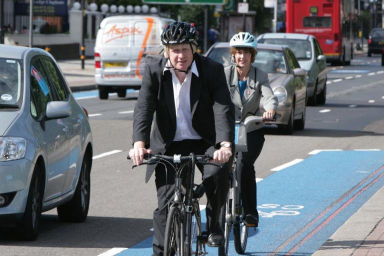Barclays Cycle Superhighway Mayor and Barclays