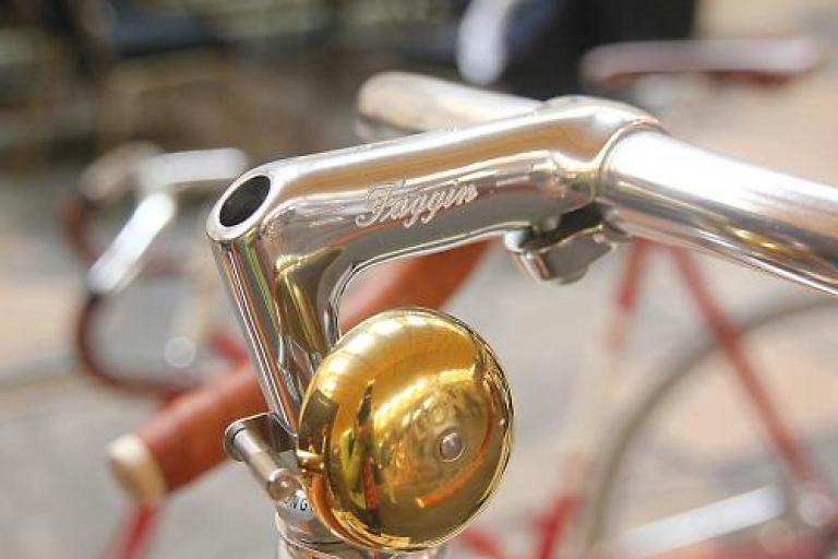 Bespoked 2013 sneak peak - Faggin leather bike bell
