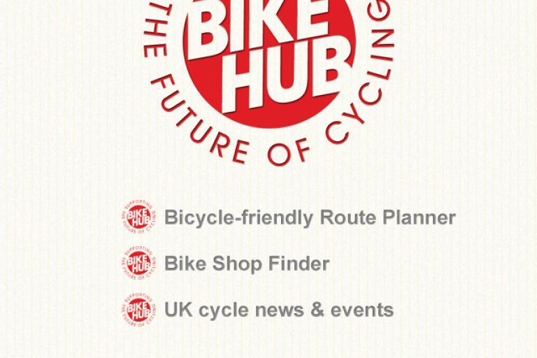Bike Hub home screen