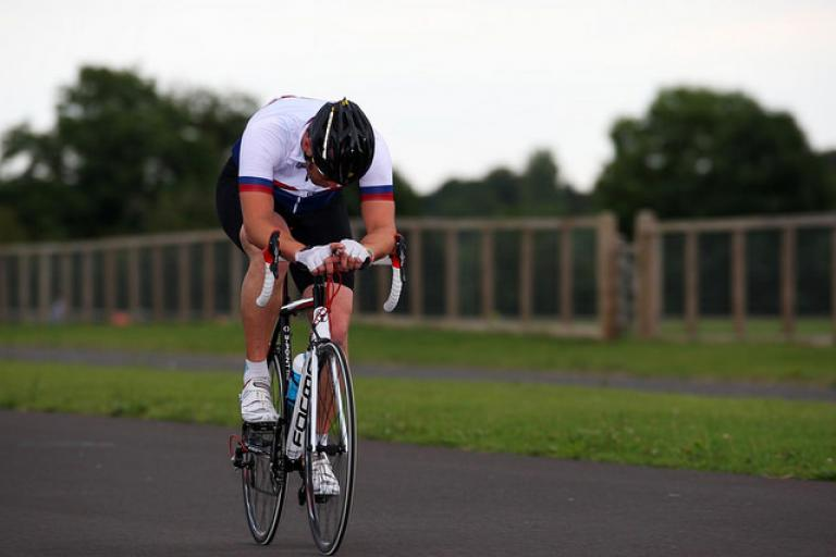 Dave suffering at the Cat 4s