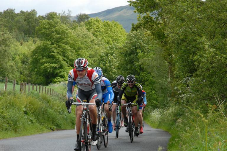 Riders in a chain gang