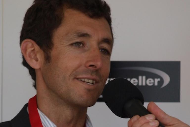 Roberto Heras after winning the 2009 Brompton World Championship