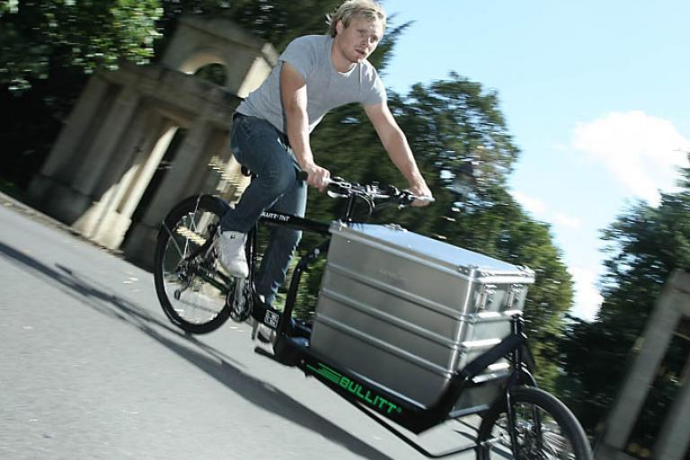 Bullitt Cargo Bike riding