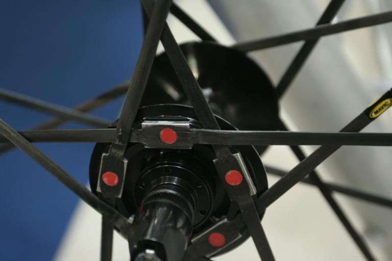 Mavic Carbone SLR wheel - hub detail