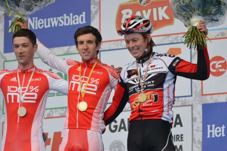 E3 U23 race podium - Simon Yates - pic Owen Rogers