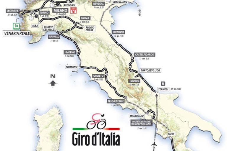 Giro d'Italia 2011 Map