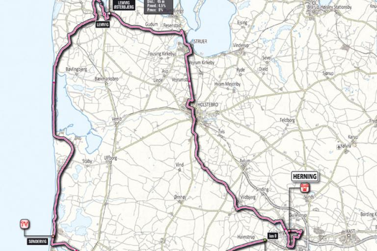 Giro 2012 Stage 2 map