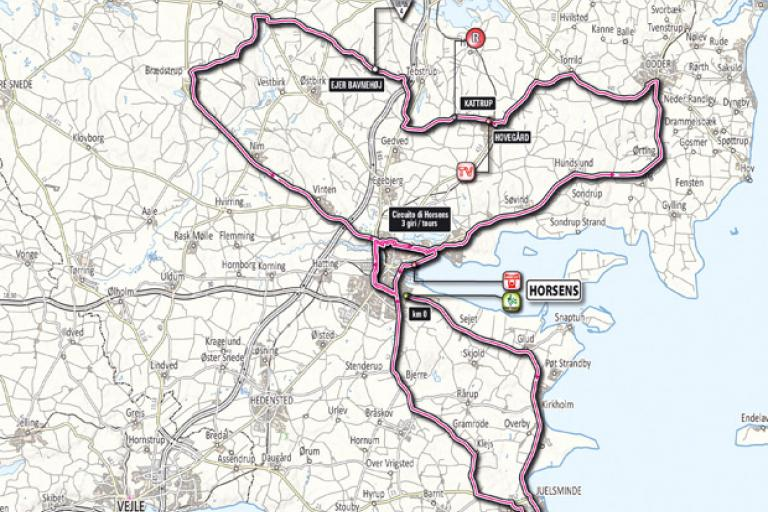 Giro 2012 Stage 3 map