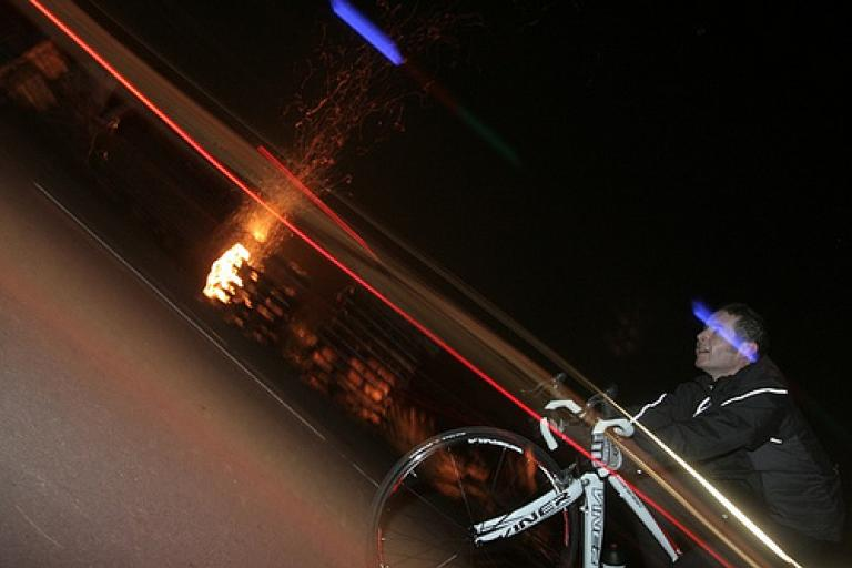 Jole Rider 12hr - Tony passes the camp fire