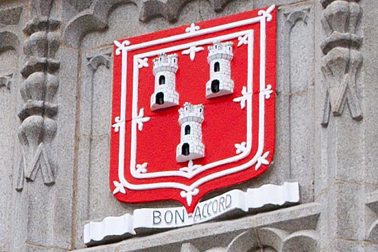 Aberdeen Coat of Arms (CC licensed by Tom Watt on Flickr)