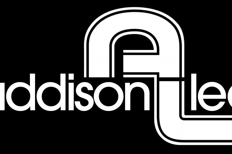 Addison Lee logo - white on black