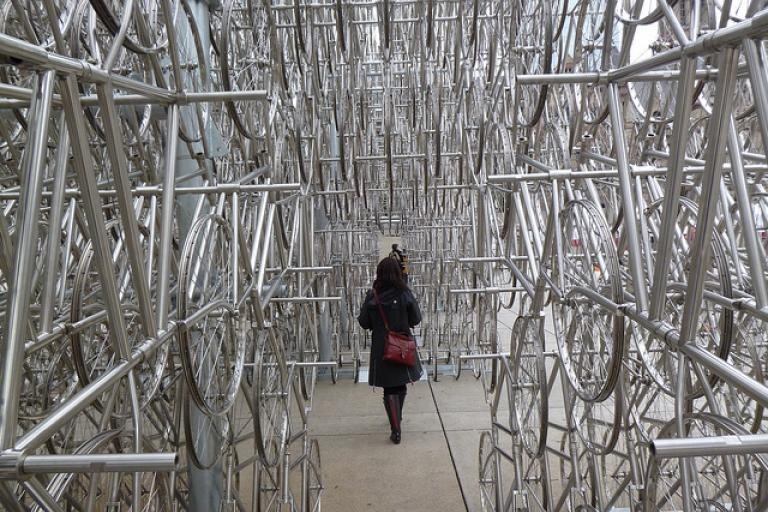Ai Weiwei Forever installation in Toronto (licensed CC-BY-2.0 on Flickr by Cameron Norman)
