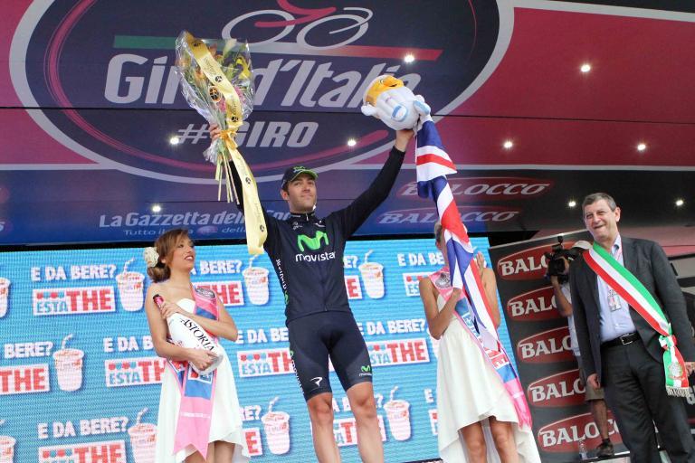 Alex Dowsett after winning Giro TT (picture RCS Sport)