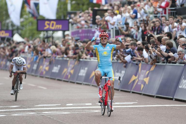 Alexandre Vinokourov wins the 2012 Olympic road race (copyright www.britishcycling.org.uk)