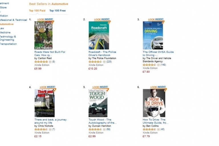 Amazon Kindle Store Roads Were Not Built For Cars at Number 1