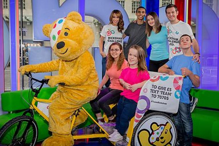 BBC Children in Need Rickshaw Challenge 2014