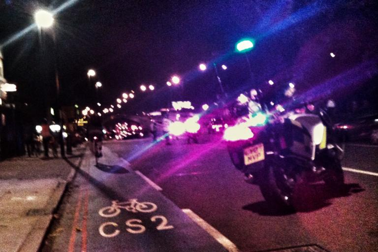 Barclays Cycle Superhighway CS2 at Bow