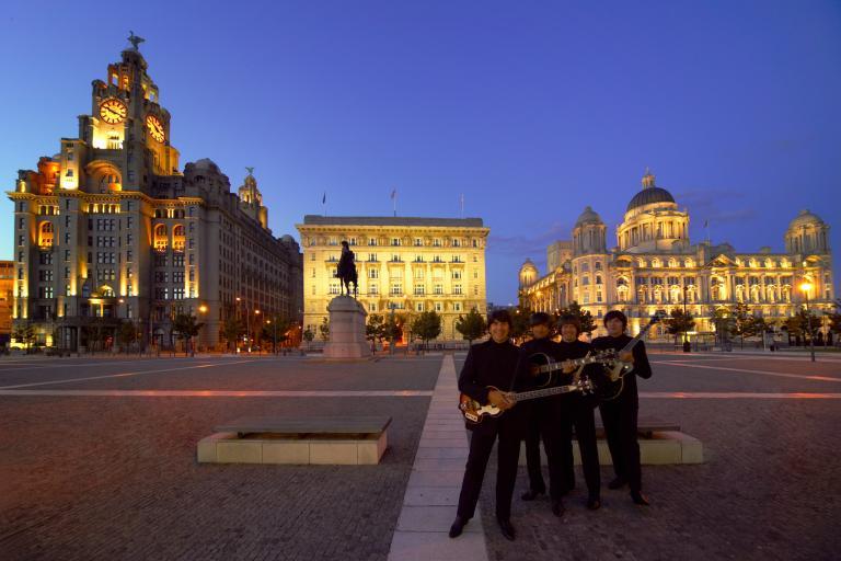Beatles tribute act in Liverpool (source Visit Britain)
