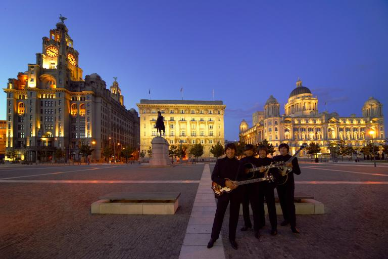 Beatles tribute act in Liverpool (source Visit Britain)