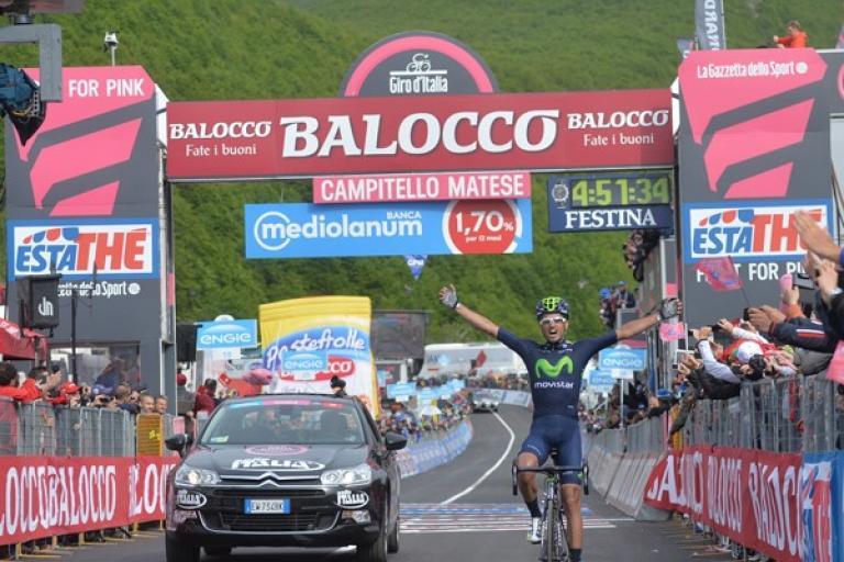 Benat Intxausti wins 2015 Giro Stage 8 (picture ANSA, Dal Zennaro)