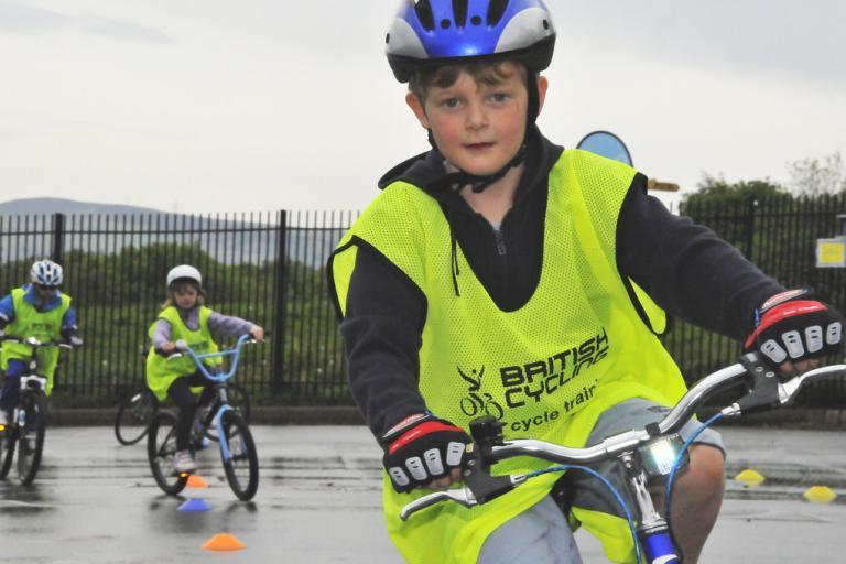 Bikeability training (copyright Britishcycling.org.uk)