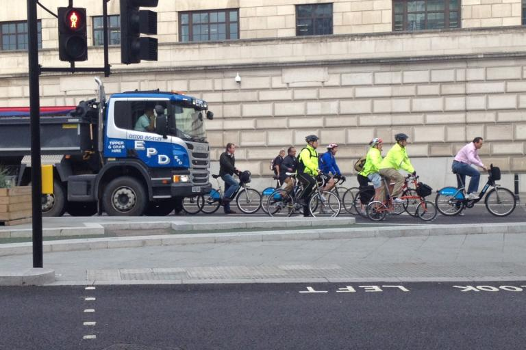Blackfriars Bridge - pic credit Cyclists In The City