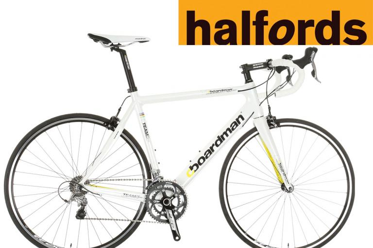 Boardman Team C bike Halfords logo