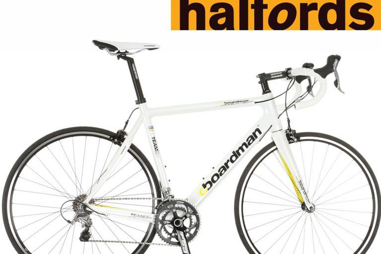Boardman Team C bike with Halfords logo