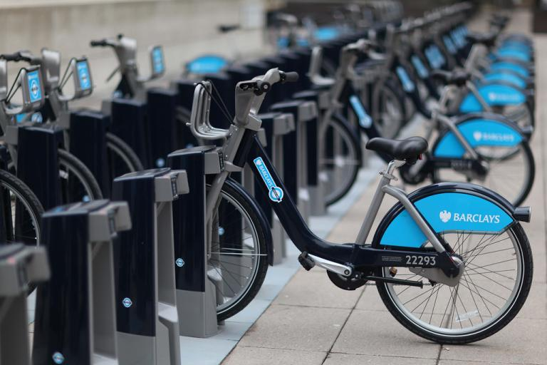 Boris Bikes (courtesy TfL)